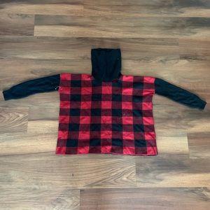 Ralph Lauren Red and Black Turtle neck Sweater